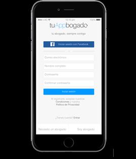 Aplicacion de abogados para iPhone
