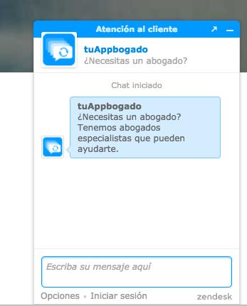 web abogado chat instantaneo